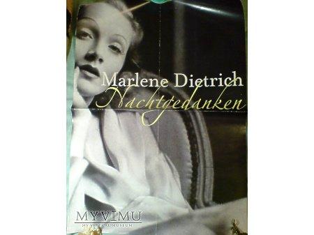 Duże zdjęcie Marlene Dietrich PLAKAT Promocyjny Nachtgedanken