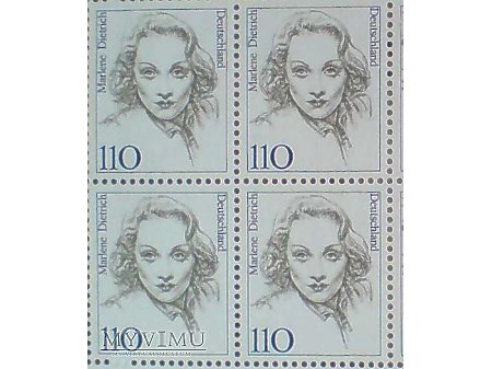 Duże zdjęcie Marlene Dietrich Blok Znaczków 14.08.1997