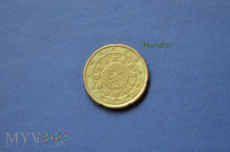 Moneta: 20 euro cent - Portugalia