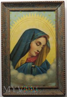 Twarz Maryi spoglądającej z nieba