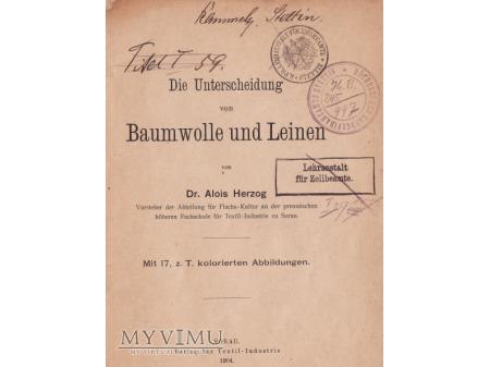 Książka wydana w Żarach(Sorau) w 1904