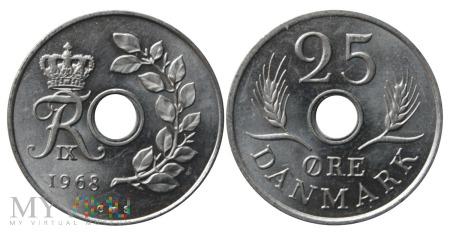 Dania, 25 Øre 1968