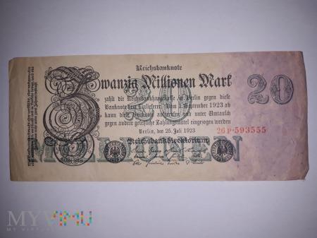 20 000 000 Marek Niemieckich - 1923