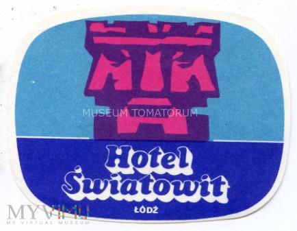 Nalepka hotelowa - Łódź - Hotel Światowit