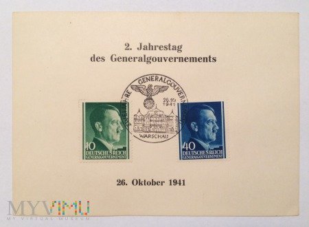 2. Jahrestag des Generagouverments 26 Oktober 1941