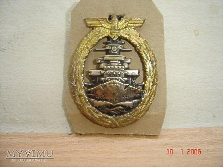 Kriegsmarine Odznaka dla załóg Pacerników,Krążowni
