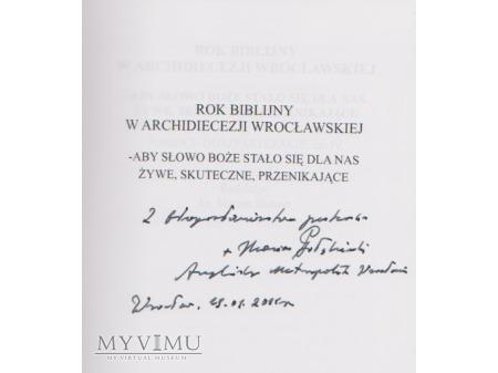Książka od Abpa Mariana Gołębiewskiego