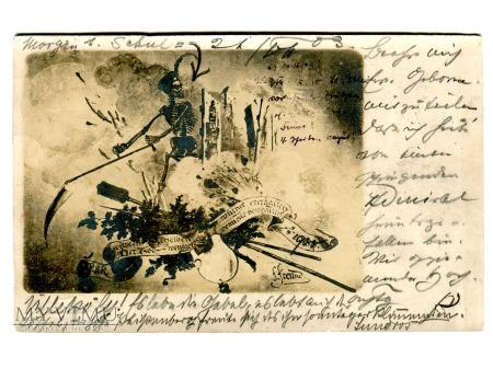 1903 wściekła Śmierć zbiera plony Lagerlechfeld