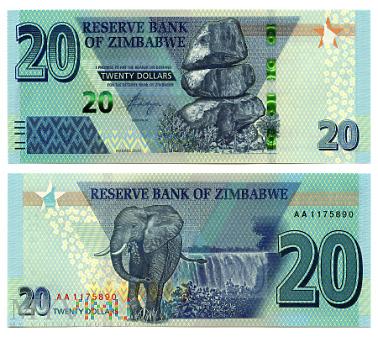 20 Dollars 2020 (AA 1175890)