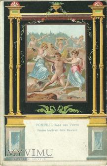Pompeje - Penteus zabity przez Bachantki