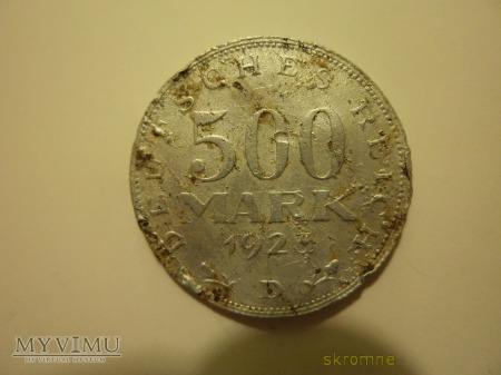 500 marek z 1923r.
