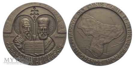 Św.Cyryl &Metody,patroniEuropy, medal 1982
