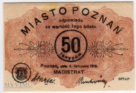04.11.1919 - 50 Fenygów - Poznań