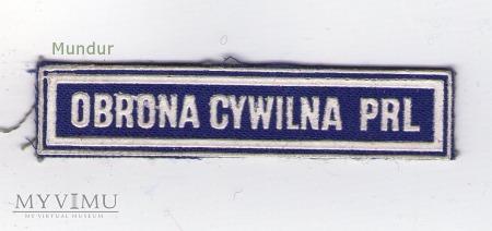 Emblemat napis OBRONA CYWILNA PRL