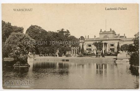 Warszawa - Łazienki - Pałac od frontu - 1915 ok.