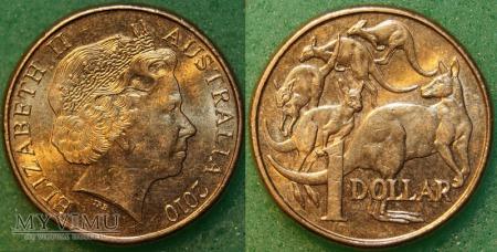 Australia, 1 dolar 2010