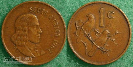 South Africa, 1 cent 1997