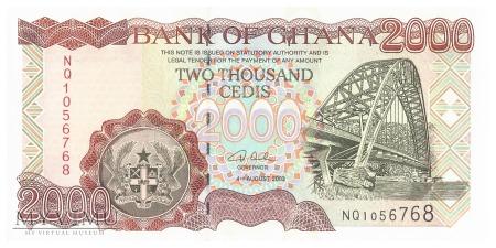 Ghana - 2 000 cedi (2003)