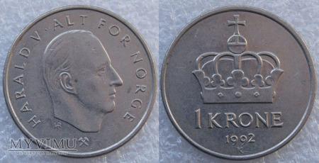 Norwegia, 1 Krone 1992