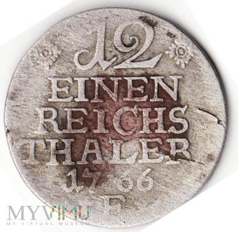 12 EINEN REICHS THALER 1766 E