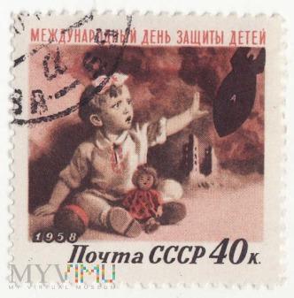 1958 CCCP 40k - Międzynarodowy dzień dziecka