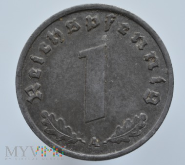 Duże zdjęcie 1 Reichspfennig 1943