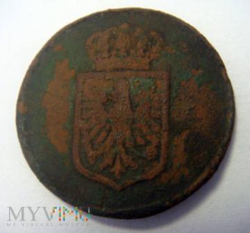 Guzik urzędniczy Cesarstwa Niemieckiego wzór 1889