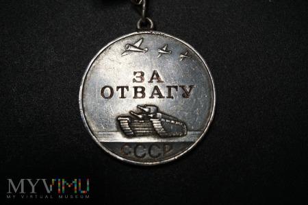 Duże zdjęcie Medal Za Odwagę - ZSRR - numerowany