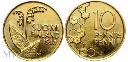 Finlandia, 10 PENNI 1998