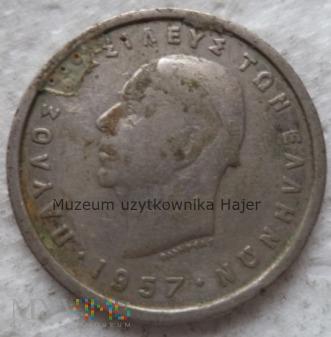 Grecja - 2 drachmy - 1957 rok