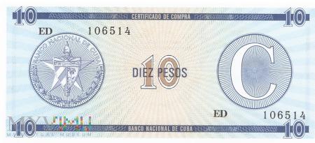 Kuba - 10 pesos (1985)