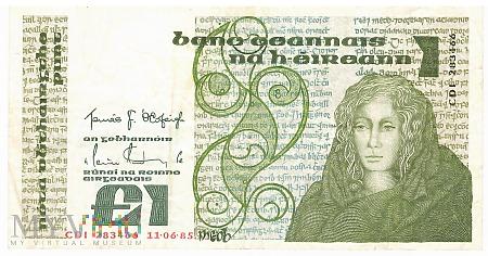 Irlandia - 1 funt (1985)