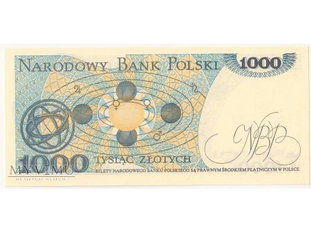 1000 złotych 1982 rok seria EE