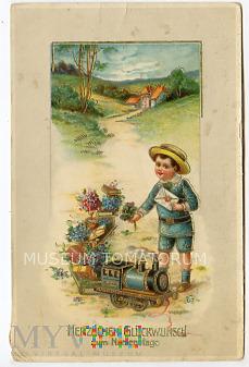 Imieninowa z pociągiem - 1916