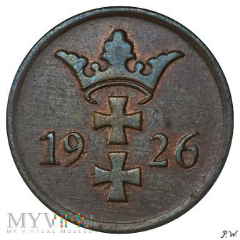 Wolne Miasto Gdańsk - 1926 - 2 pfennige