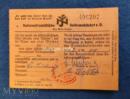 Nationalzozialistische Volkswohlfart -NSV