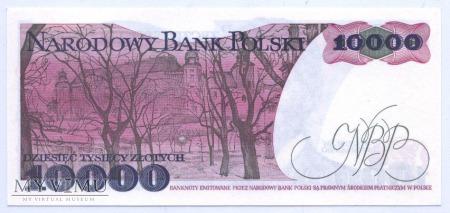 10 000 złotych - 1988.