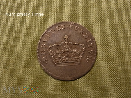 Duże zdjęcie Żeton koronacyjny Augusta III