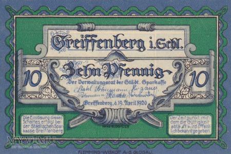 Notgeld Greiffenberg in Schlesien 10 Pf.