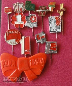 odznaki PRL 1majowe