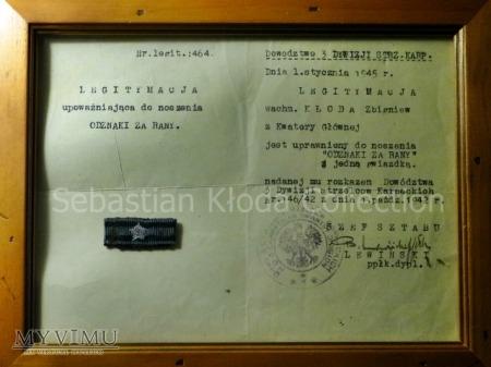 Odznaka za rany z legitymacją