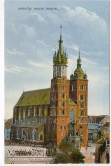Kraków - Rynek - Kościół Mariacki - 1920