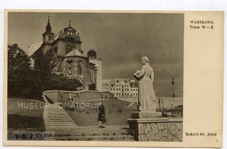 W-wa - Kościół św. Anny od skarpy - 1950