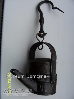 LAMPA OLEJOWA BLASZANA tzw. Schella-OKOŁO 1850 ROK
