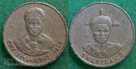 Suazi, 1 Lilangeni 1986