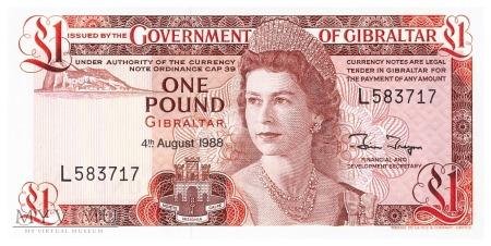 Gibraltar - 1 funt (1988)