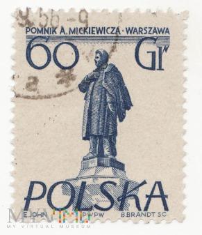 Polska - A.Mickiewicz 60gr