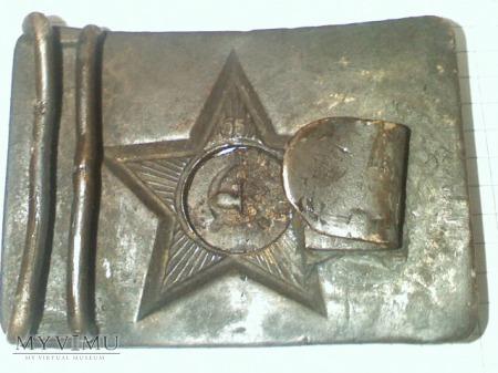 radziecka klamra sygnowana z nakladka
