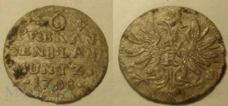 6 pfennig 1708 Brandenburgia-Prusy Fryderyk I