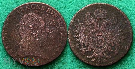 Austria, 3 kreuzer 1800